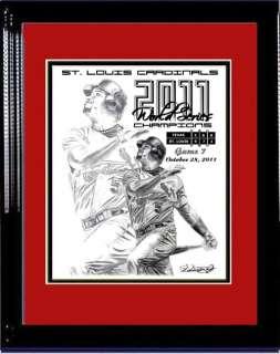 2011 WORLD SERIES LITHOGRAPH POSTER PRINT ST. LOUIS CARDINALS ALBERT