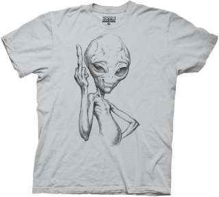 ALIEN PAUL   FLIP OFF T SHIRT