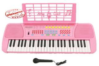Children 49 Keys Electronic Piano Music Keyboard Pink