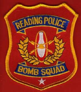 READING PA POLICE BOMB SQUAD PATCH