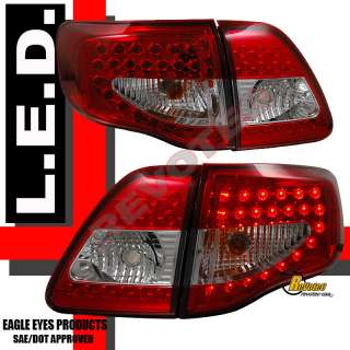 2009 2010 TOYOTA COROLLA LED TAIL LIGHTS LAMP S XLE XRS