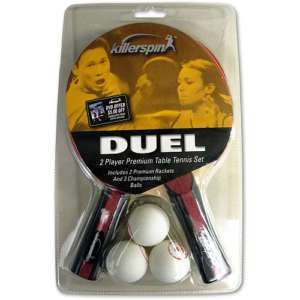 KILLERSPIN Duel 2 Player Table Tennis Racket Paddle Set 825509101108