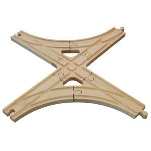 New Wooden 5 Cross Switch Track Set Thomas Train Brio