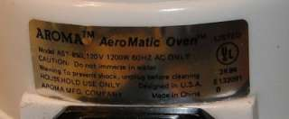 This Is A Gently Used Aroma AST 850 Aeromatic Convection Oven AST850