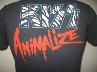 Awesome authentic, original Kiss Animalize T Shirt. Image is copyright