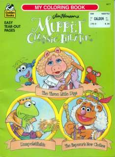 Muppets coloring book RARE UNUSED 5