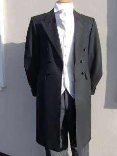 BLACK GOTH GOTHIC STYLE HALLOWEEN FROCKCOAT FROCK COAT