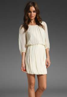TIBI Draped Dress in Cream at Revolve Clothing   Free Shipping!