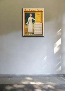 1917 Be A Trained Nurse Nursing Health Poster 24x32