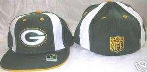 GREEN BAY PACKERS PINWHEEL HAT 7 1/8 JERSEY REEBOK NEW GREEN WHITE