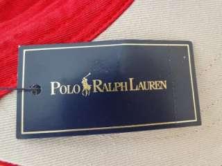 NEW Mens RALPH LAUREN POLO Red SUN VISOR Hat One Size TENNIS GOLF