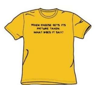 Käse Bild   Adult Gold Kurzarm T Shirt für Männer