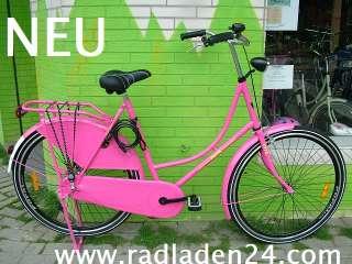 28 ZOLL Damen HOLLANDRAD Fahrrad Pink Omafiets NEU