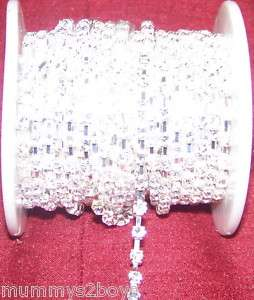 CLEAR GLASS RHINESTONE CRYSTAL DIAMANTE CAKE BANDING
