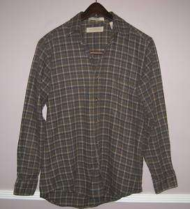 Mens CLAYBROOKE OUTDOORS Plaid Flannel Shirt Size S