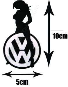 VW Girl, Black Car Vinyl Decal Sticker, Dub, Women