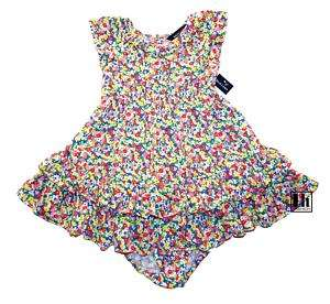 NWT Ralph Lauren Girls Floral Ruffle Dress Set