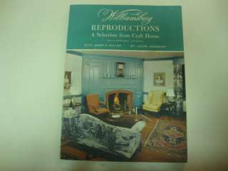 baker furniture colonial williamsburg reproductions 1992 On williamsburg craft house catalog