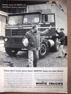 1963 WHITE Heavy Duty Trucks Truck Ad