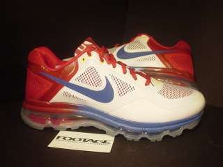 2011 Nike Air Trainer 1.3 Max Breathe MP MANNY PACQUIAO WHITE RED BLUE