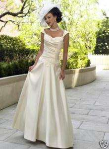 Taffeta Beads Vintage Beach Bridal wedding Dress Gown