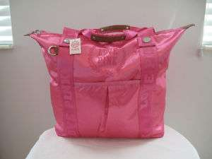 VICTORIAS SECRET PINK SATIN TOTE BAG PINK NEW