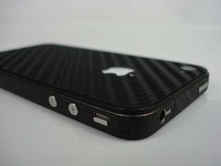 iPhone 4 Carbon Fiber Full Body Skin Wrap Black