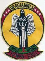 VMFA 235 DEATH ANGELS PATCH   FULL COLOR