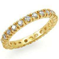 Best selling Gold Plated Eternity band ring sz 8