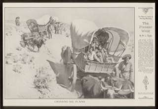 1903 W.L. Taylor The Pioneer West wagon train print