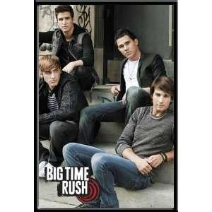 Big Time Rush Poster Steps + MDF Rahmen, schwarz  Küche