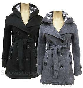 Womens MILITARY Ladies JACKET COAT Black and Charcoal Grey Size 6 8 10