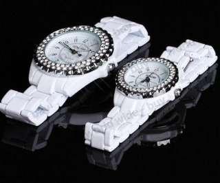 lady Man couple diamond crystal new sinobi WHITE Tungsten Quartz wrist