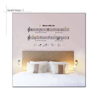 DIY Vinyl Art MUSIC NOTE Decorative Wall Sticker Decal