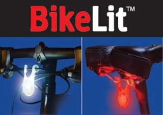 NEW Bike Bicycle HeadLight LED Tail Light Marker Set