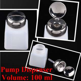 2pc Pump Dispenser Bottle Nail Art Makeup Tool J0212 1