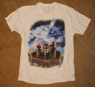 ZZ TOP 1990 Cotton Bown Dallas Tx shirt LARGE