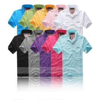 C83015 Short Sleeve Casual Lapel Polo Shirt T Shirts