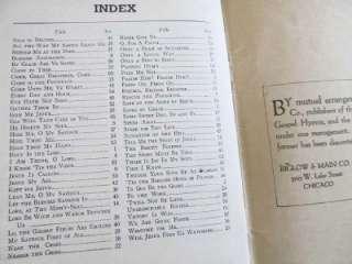 1921 Vintage Fanny Crosby Memorial Song Book of Gospel Hymns