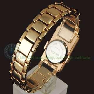 BN Rose gold 2 Crystal Bezels Bracelet Lady Wrist Watch