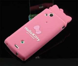silicon cartoon Hello kitty back case for Sony Xperia Arc LT15i X12