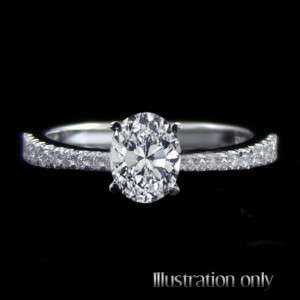 Certified 1.17 Carat D/SI2 Natural Oval Diamond Engagement Ring 14k