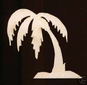 Palm Tree Plaque Sign 12 Unfinished Wood Cutout#287 12