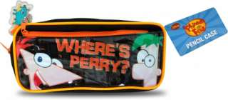 Disney Phineas Ferb Wheres Perry Empty Pencil Case School Stationery