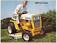 1966 Cub Cadet Lawn Tractor Magnet