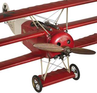Fokker DR 1 Triplane Wood Scale Model 26 World War 1 Airplane
