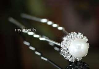 pcs X Wedding Bridal White Faux Pearl Hair Pins P1045