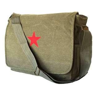 MILITARY INSPIRED CANVAS MESSENGER BAG BACKPACK GREEN
