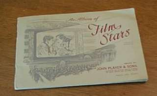 1930S ALBUM OF FILM STARS JOHN PLAYER & SONS TOBACCO CARDS COOPER