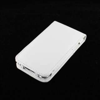 WHITE LEATHER FLIP CASE COVER WALLET FOR IPOD TOUCH 4TH GEN 4G